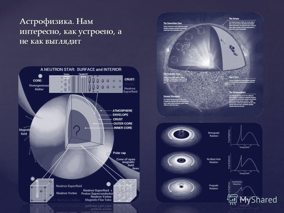 Астрофизика. Нам интересно, как устроено, а не как выглядит