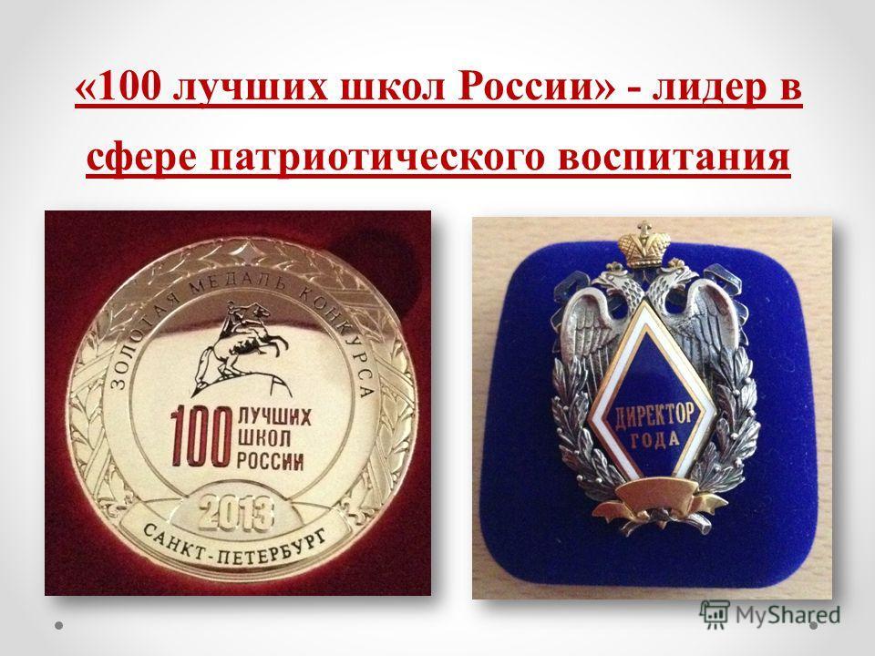 «100 лучших школ России» - лидер в сфере патриотического воспитания
