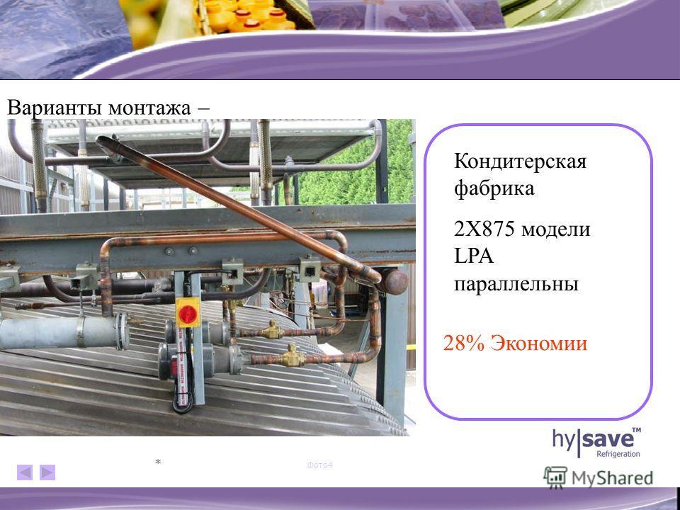 Фото3 * Кондитерская фабрика 2X875 модели LPA параллельны 28% Экономии Варианты монтажа –