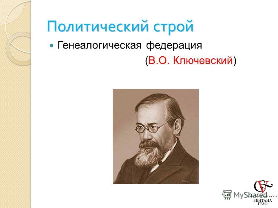 Политический строй Генеалогическая федерация (В.О. Ключевский)