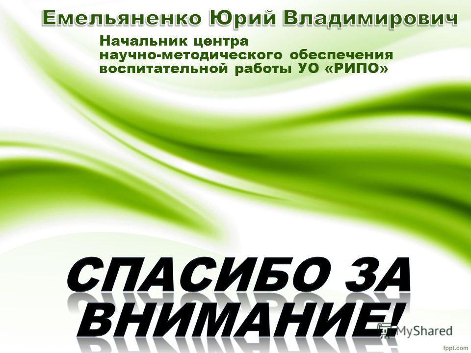 Начальник центра научно-методического обеспечения воспитательной работы УО «РИПО»