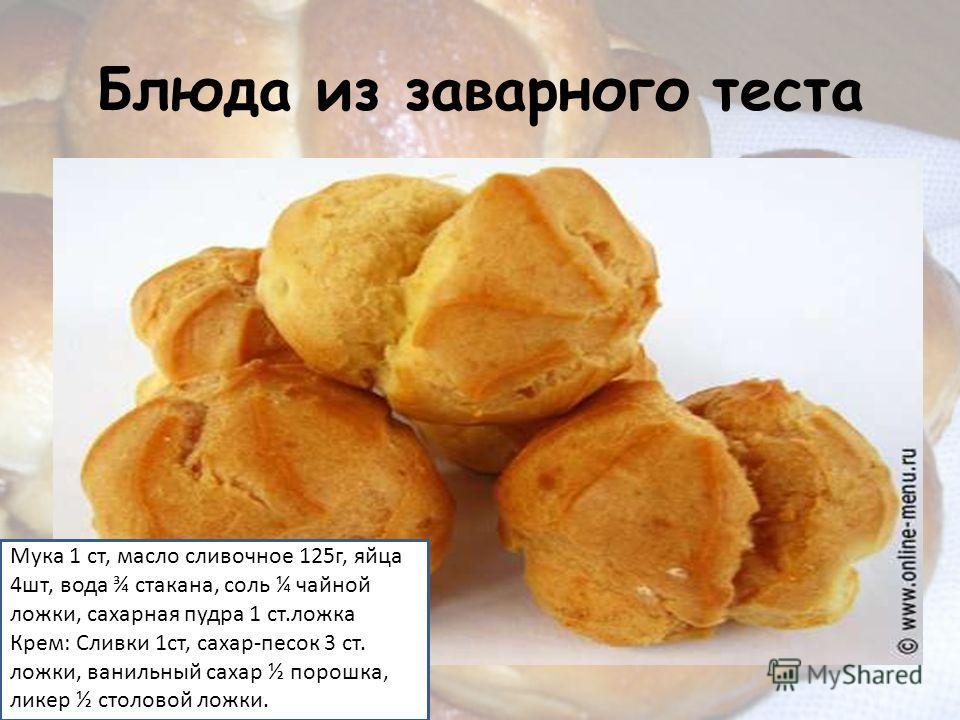 Рецепты из теста с фото
