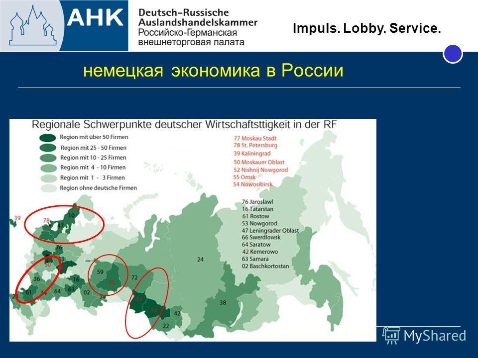 Impuls. Lobby. Service. немецкая экономика в России 30.01.09