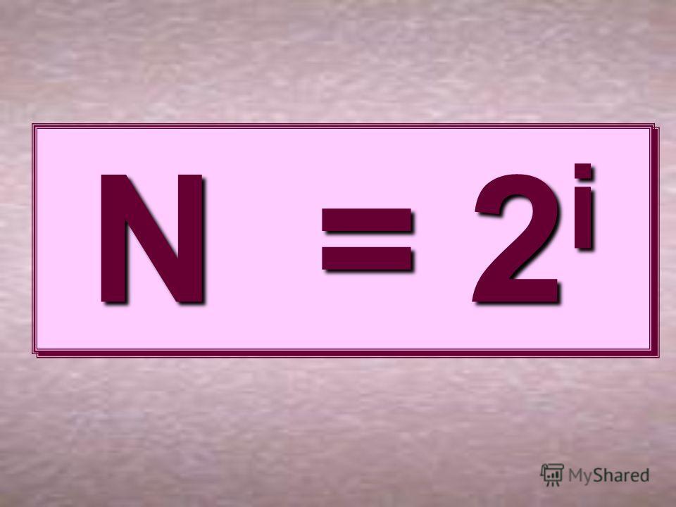 N = 2 i N = 2i