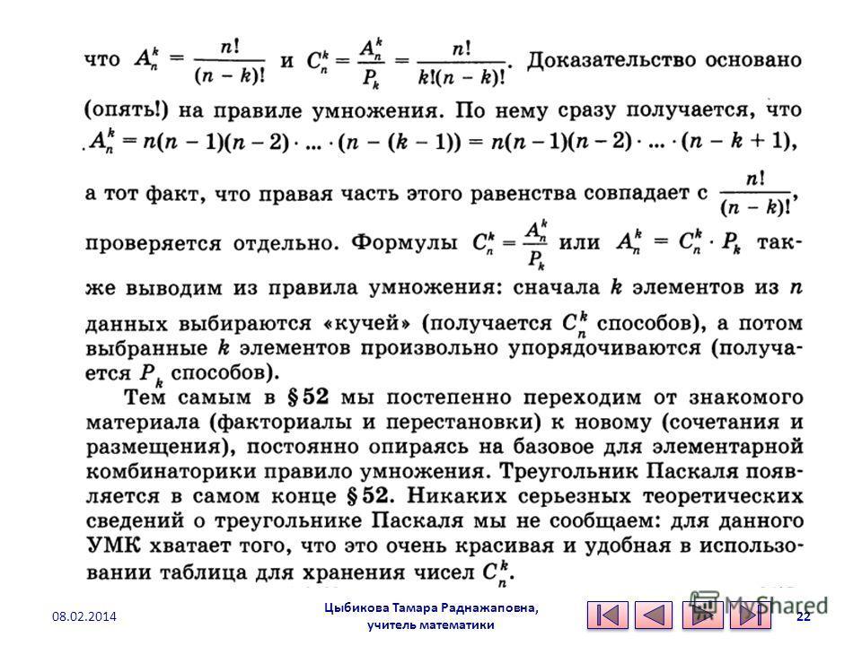 Цыбикова Тамара Раднажаповна, учитель математики 08.02.201422