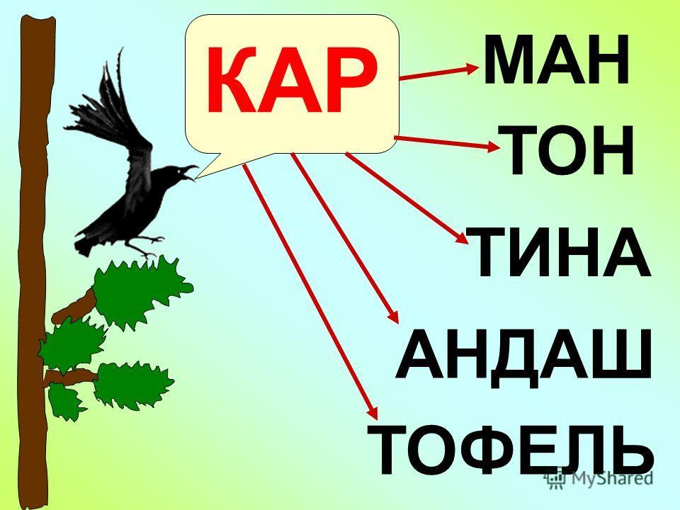 КАР ТИНА АНДАШ МАН ТОН ТОФЕЛЬ