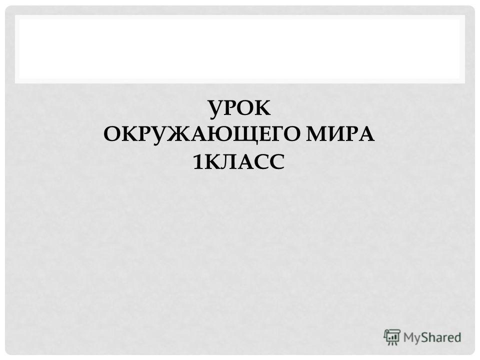 УРОК ОКРУЖАЮЩЕГО МИРА 1КЛАСС