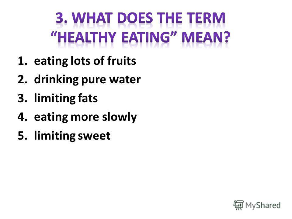 1.fats 2.alcohol 3.salt 4.sugar 5.rolls