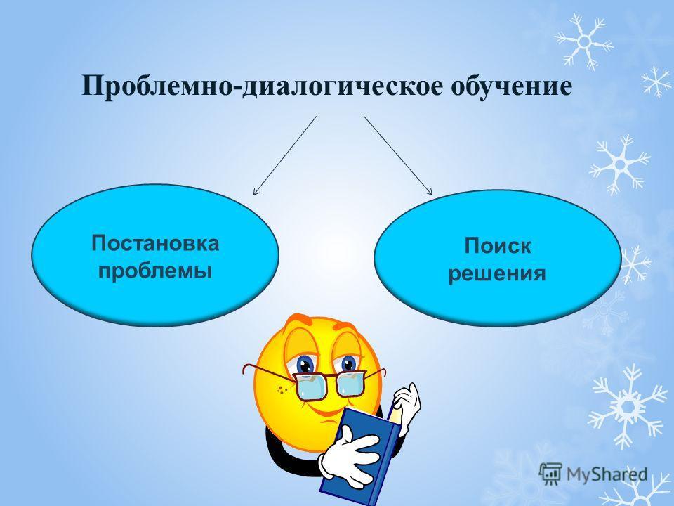 Проблемно-диалогическое обучение Постановка проблемы Поиск решения