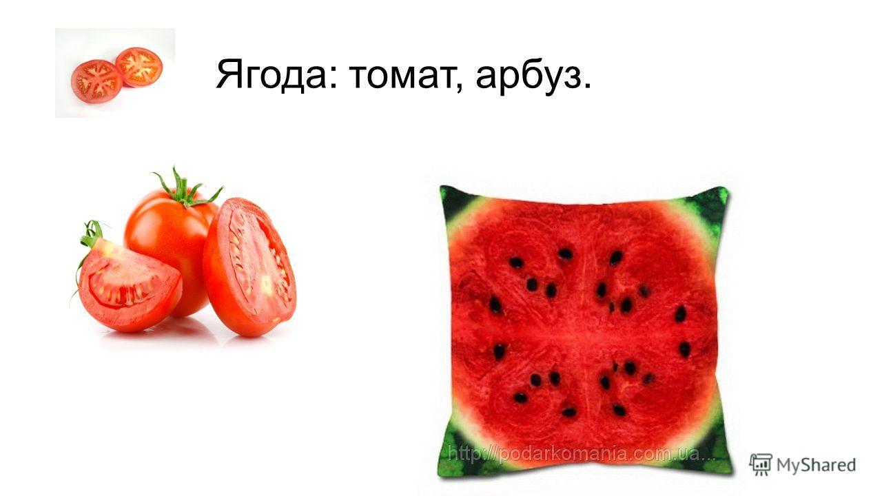 Ягода: томат, арбуз.