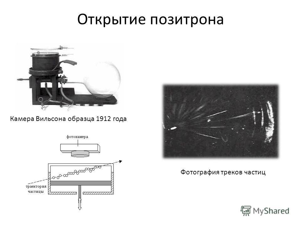 Открытие позитрона Камера Вильсона образца 1912 года Фотография треков частиц