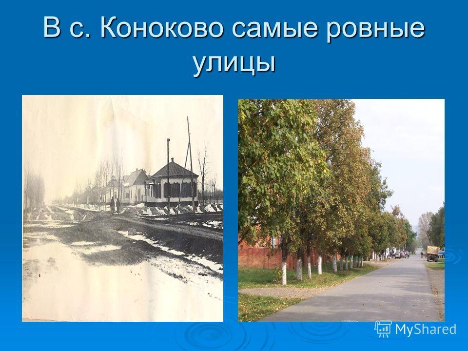 В с. Коноково самые ровные улицы
