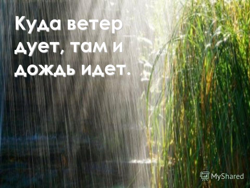 Куда ветер дует, там и дождь идет.