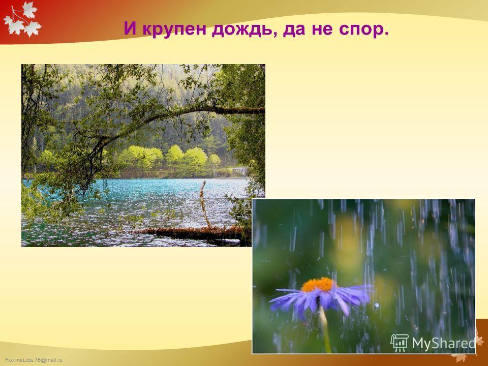 FokinaLida.75@mail.ru И крупен дождь, да не спор.