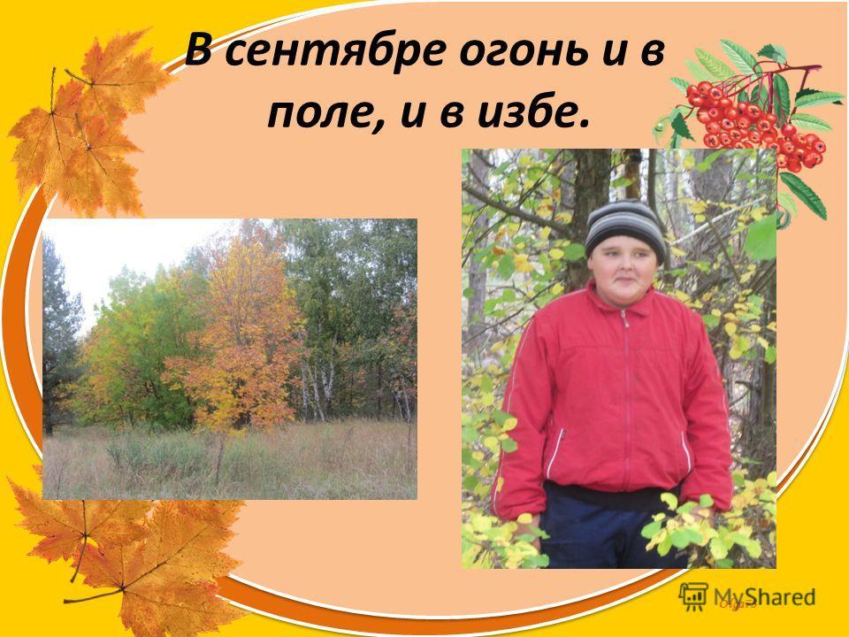 Olga73 В сентябре огонь и в поле, и в избе.