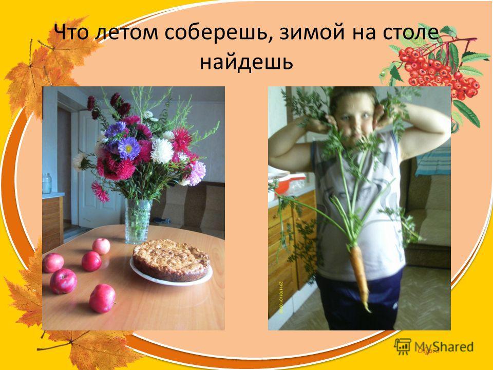 Olga73 Что летом соберешь, зимой на столе найдешь