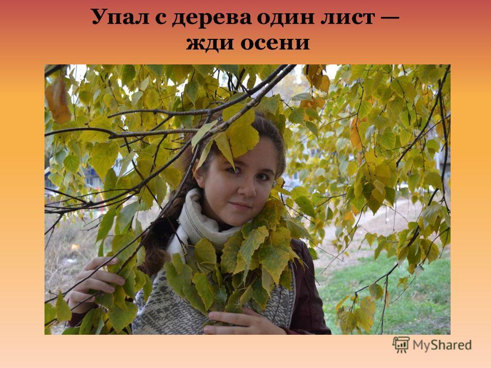 Упал с дерева один лист жди осени