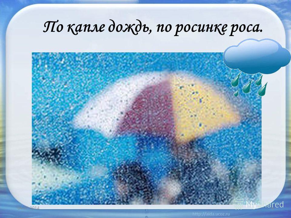 По капле дождь, по росинке роса. 04.03.20144