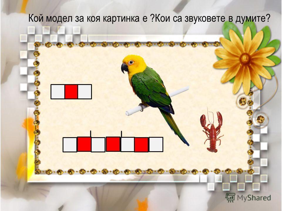 Кой модел за коя картинка е ?Кои са звуковете в думите?