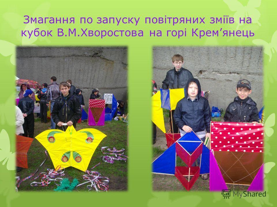 Змагання по запуску повітряних зміїв на кубок В.М.Хворостова на горі Кремянець