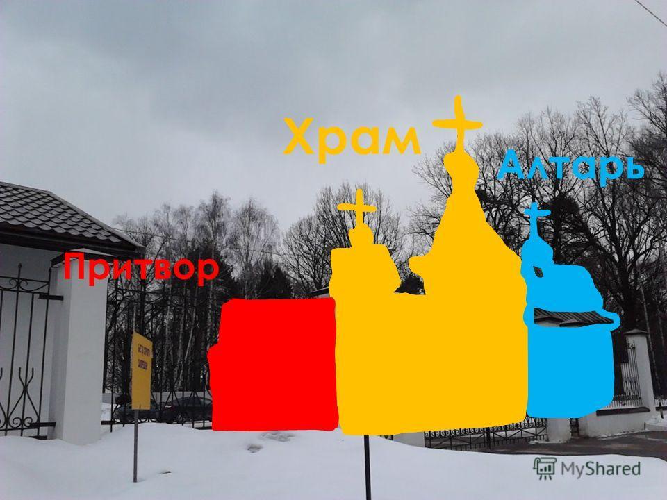 Православный храм Притвор Храм Алтарь