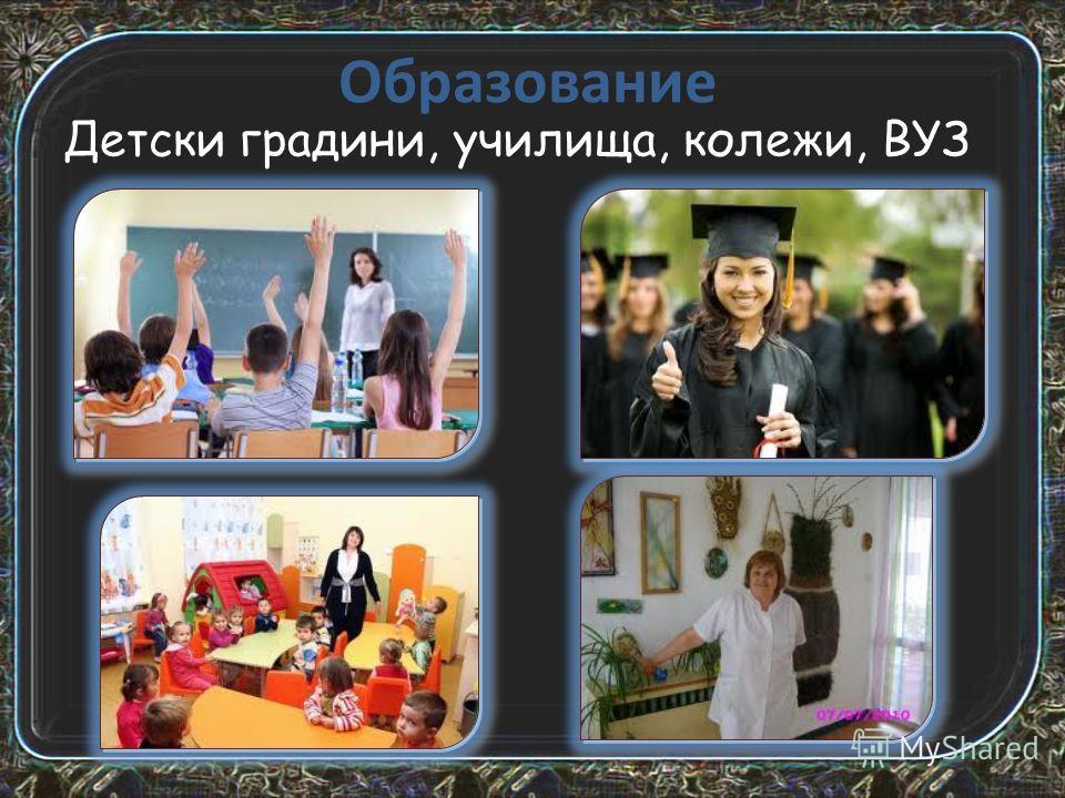 Опазване на здравето и лечение Болници, диспансери, санаториуми, кабинети, аптеки.