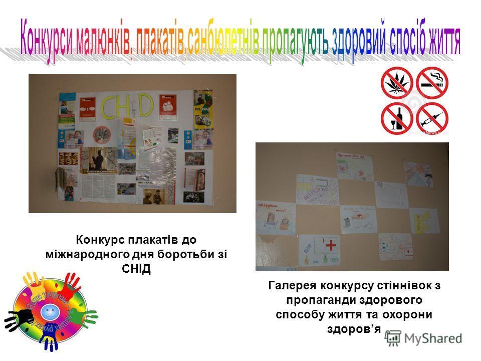 Конкурс плакатів до міжнародного дня боротьби зі СНІД Галерея конкурсу стіннівок з пропаганди здорового способу життя та охорони здоровя