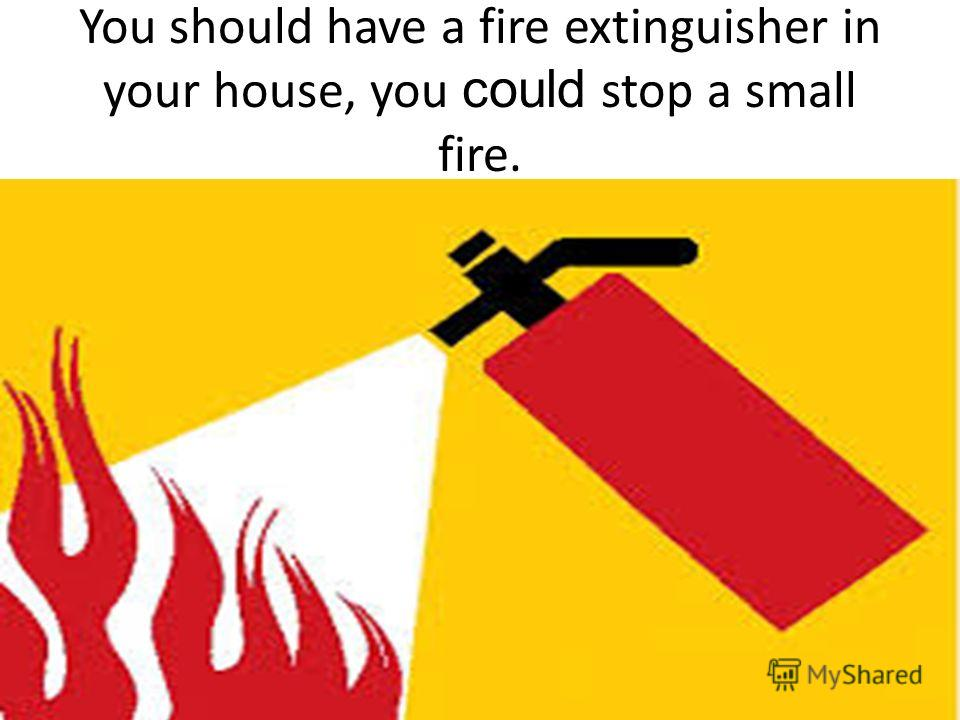 You should have a fire extinguisher in your house, you could stop a small fire.