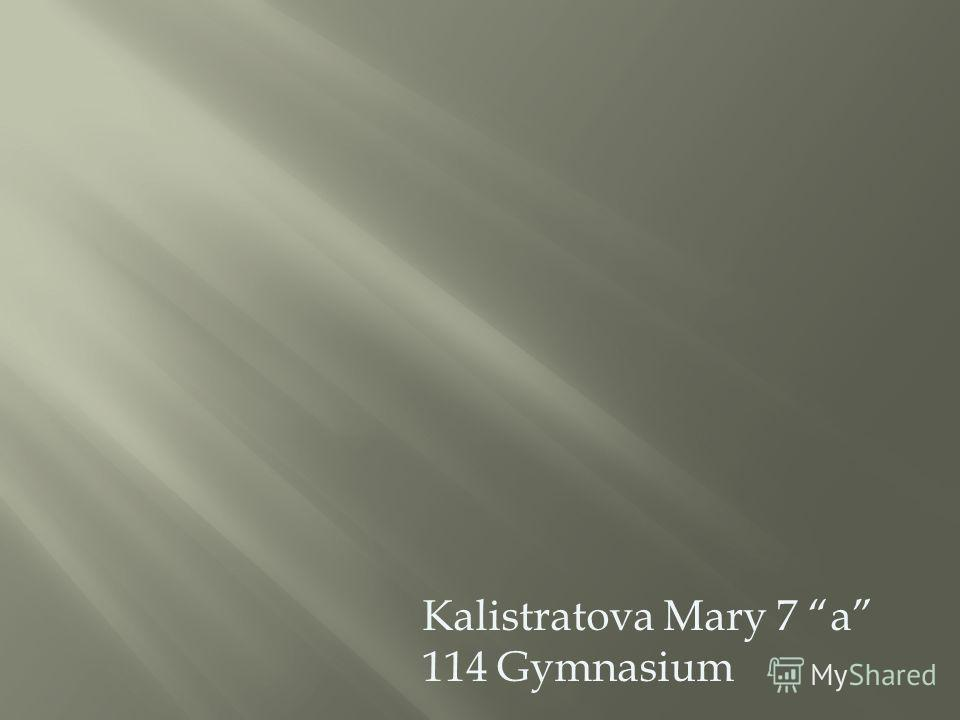 Kalistratova Mary 7 a 114 Gymnasium