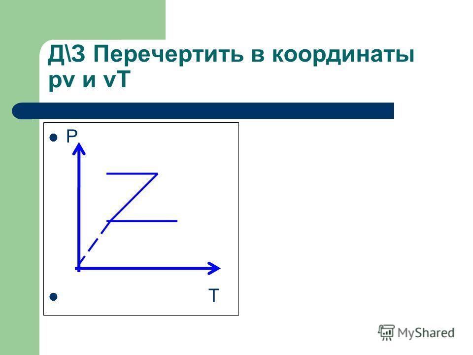 Д\З Перечертить в координаты pv и vT Р T