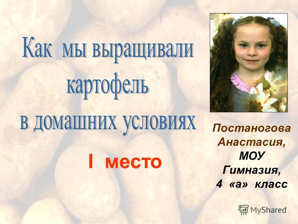 Постаногова Анастасия, МОУ Гимназия, 4 «а» класс I место