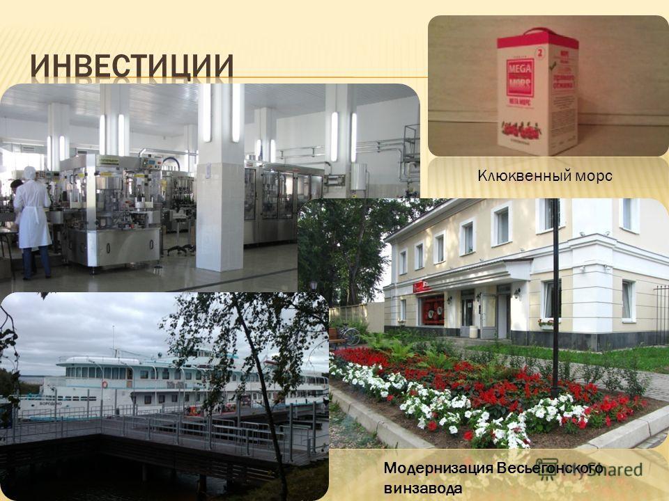 Клюквенный морс Модернизация Весьегонского винзавода