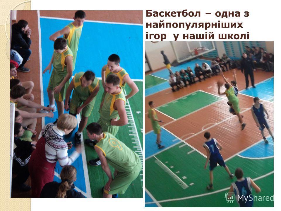 Баскетбол – одна з найпопулярніших ігор у нашій школі