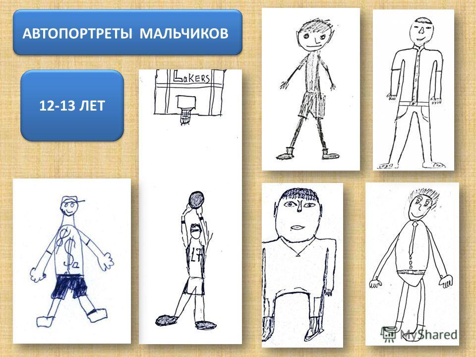 АВТОПОРТРЕТЫ МАЛЬЧИКОВ 12-13 ЛЕТ