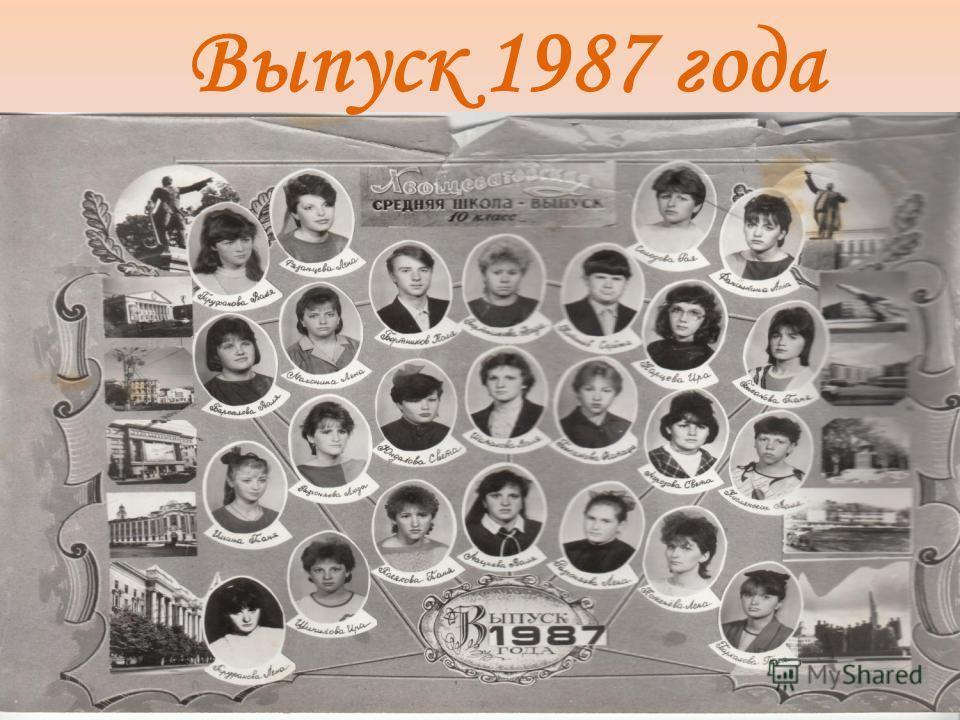 Выпуск 1987 года