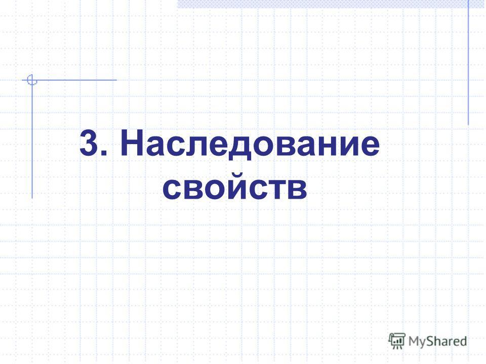 3. Наследование свойств