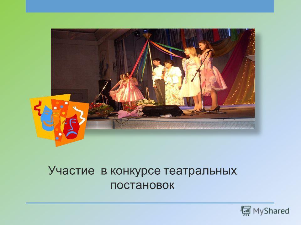 Участие в конкурсе театральных постановок