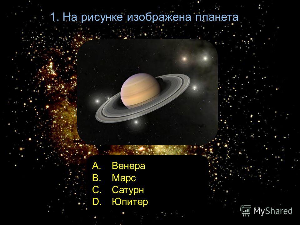 1. На рисунке изображена планета A. Венера B. Марс C. Сатурн D. Юпитер