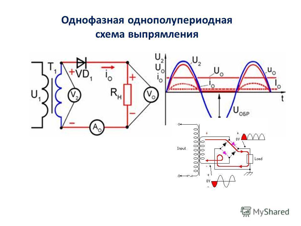 Однофазная однополупериодная схема выпрямления