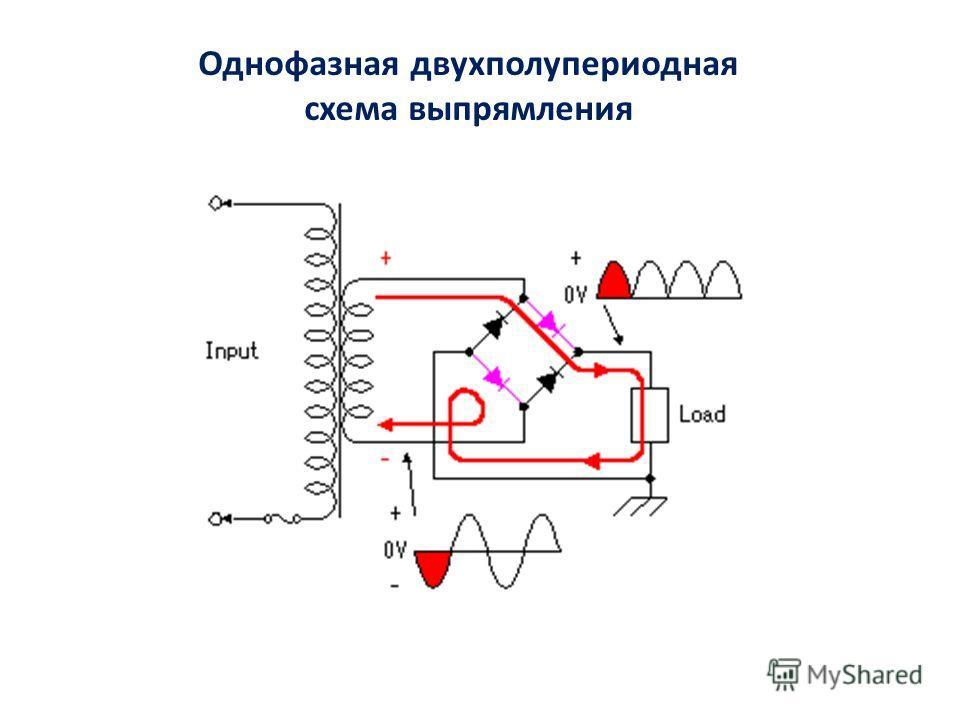 Однофазная двухполупериодная схема выпрямления