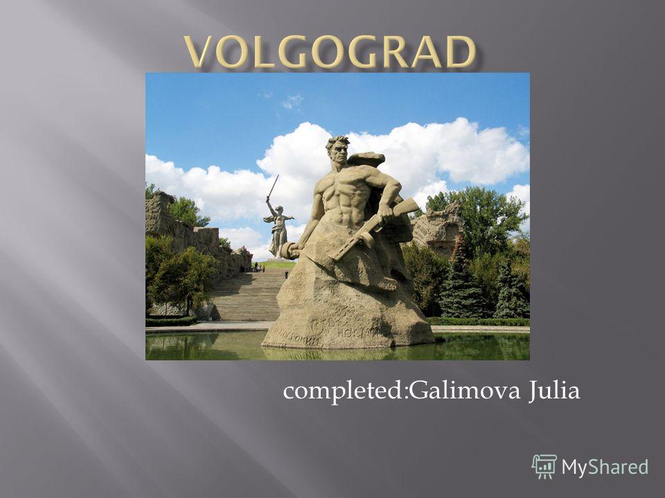 completed:Galimova Julia