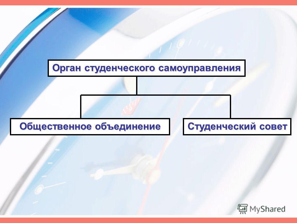 Орган студенческого самоуправления Студенческий совет Общественное объединение