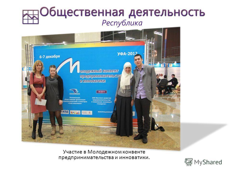 Участие в конкурсе «Студент года 2012» среди студентов СПО города Стерлитамака. Участие в Студенческой весне, участие в городских студенческих семинарах.