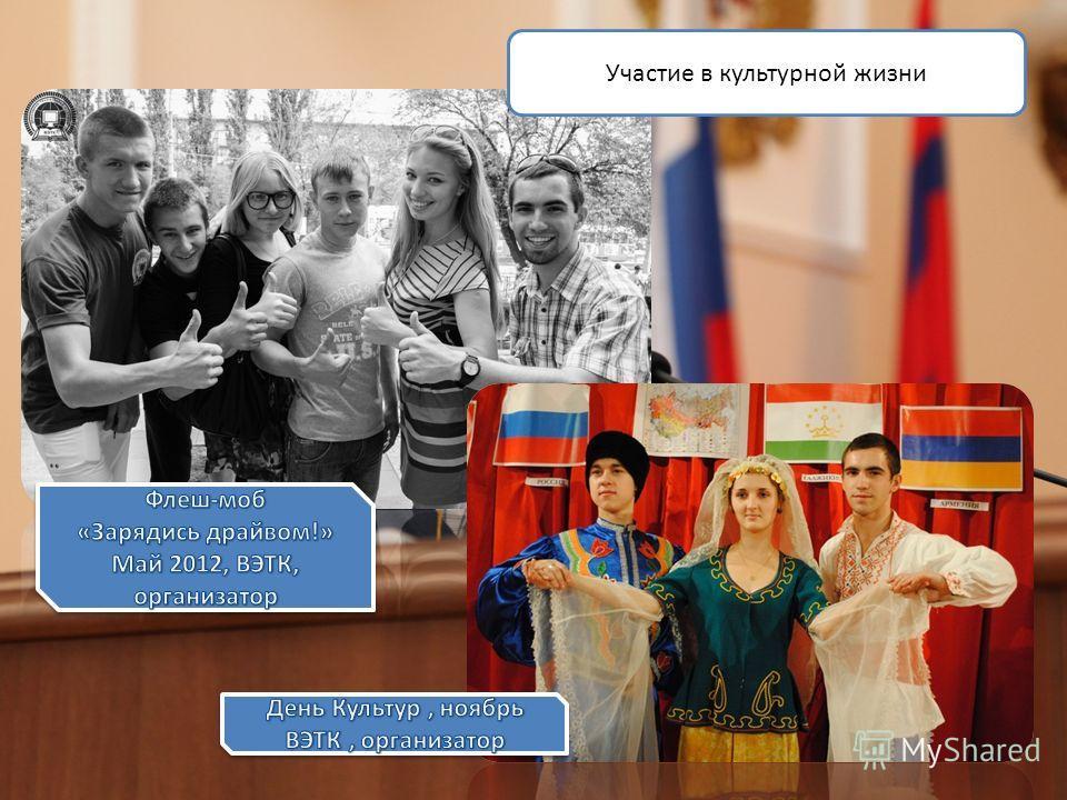 Участие в культурной жизни