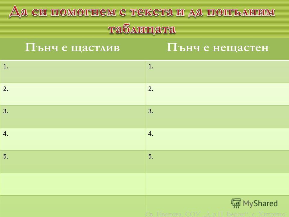 10 Св. Иванова, СОУ Д-р П. Берон, с. Хитрино
