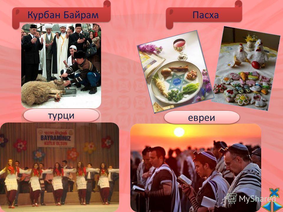 Курбан Байрам турци Пасха евреи