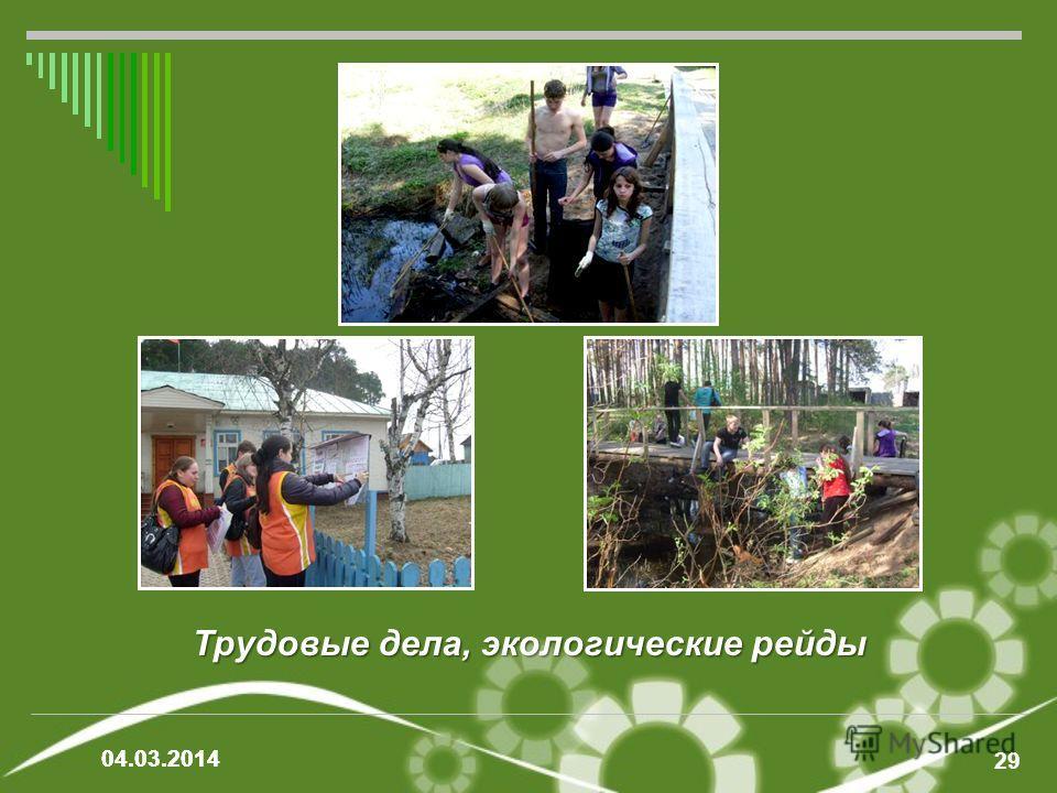 Трудовые дела, экологические рейды 29 04.03.2014