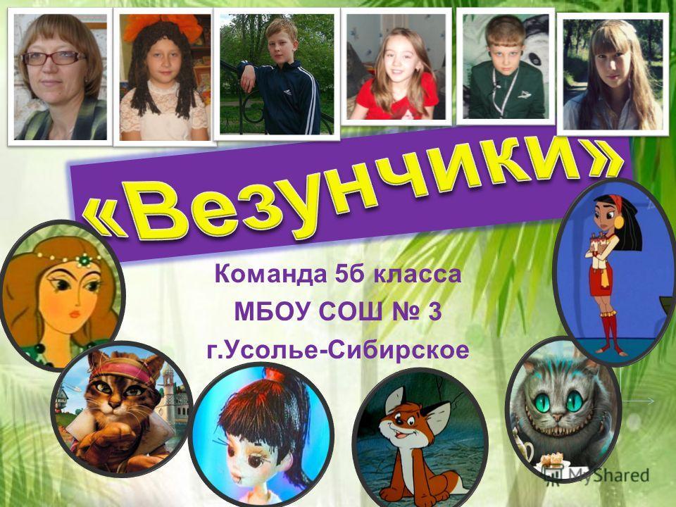 Команда 5б класса МБОУ СОШ 3 г.Усолье-Сибирское