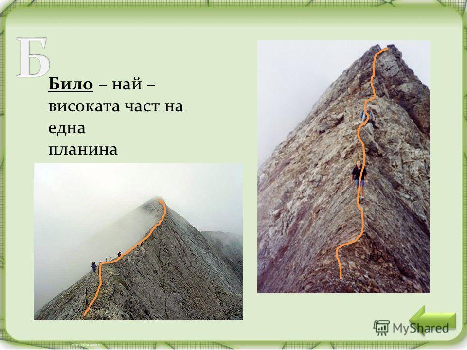 Било – най – високата част на една планина