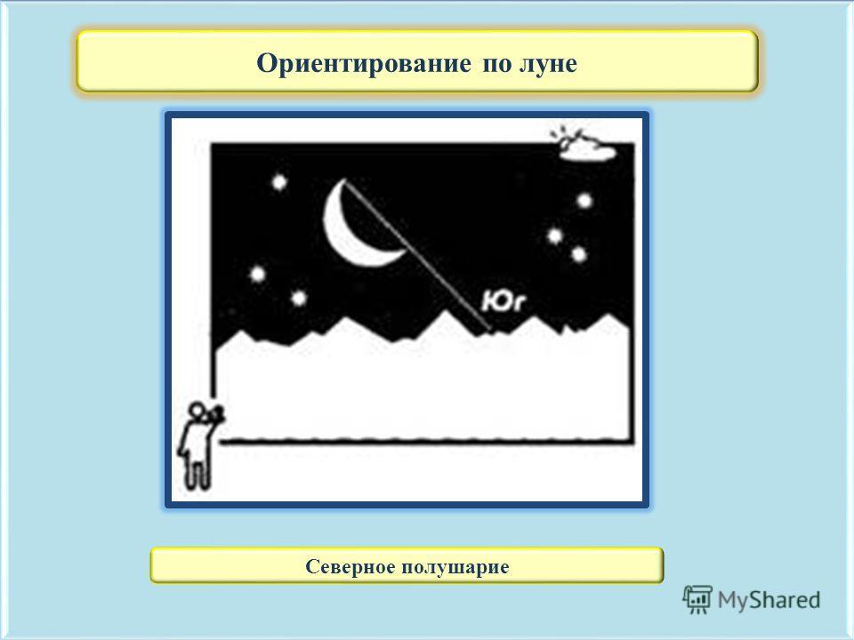 Ориентирование по луне Северное полушарие